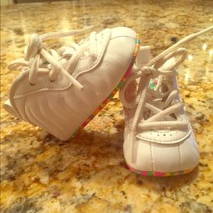 "Infant Nike White Foamposite ""fruity pebble"" style"
